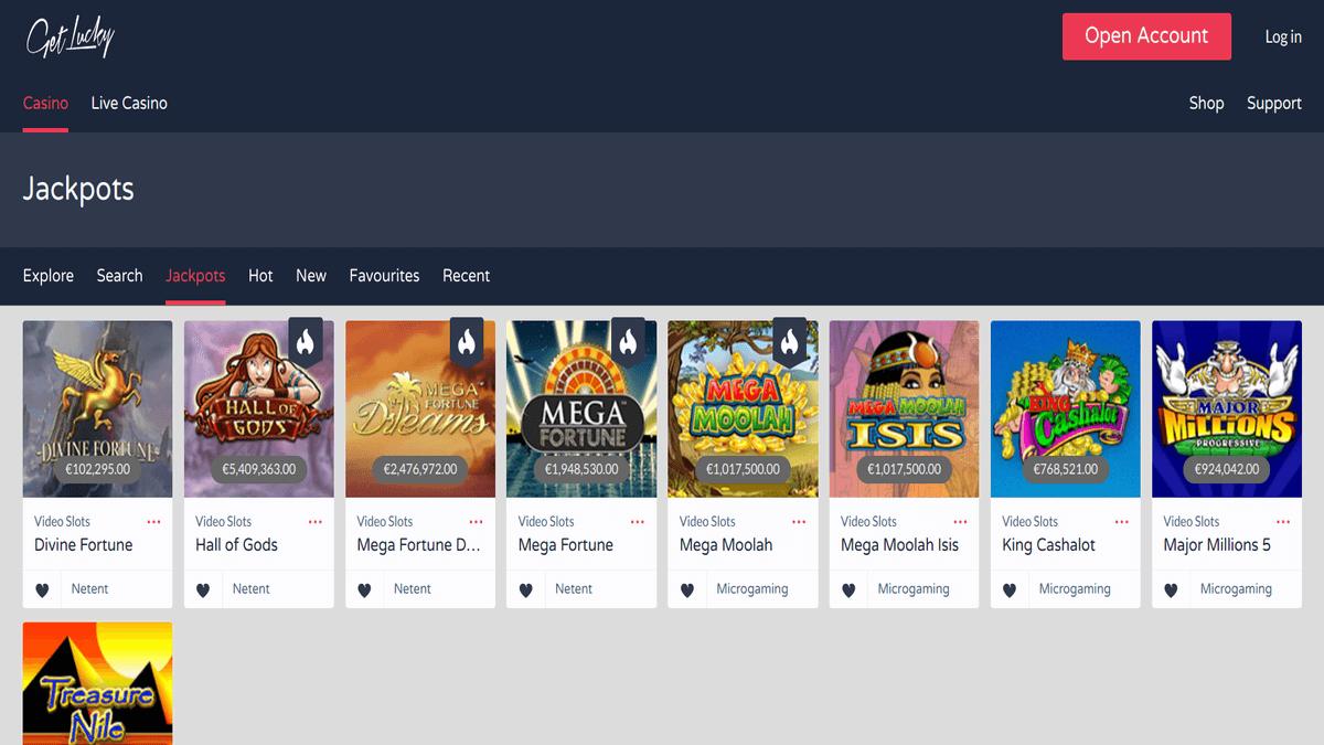 GetLucky review casino