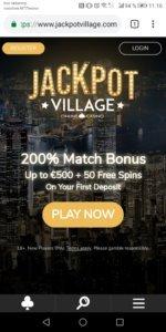 JackpotVillage Mobile Casino