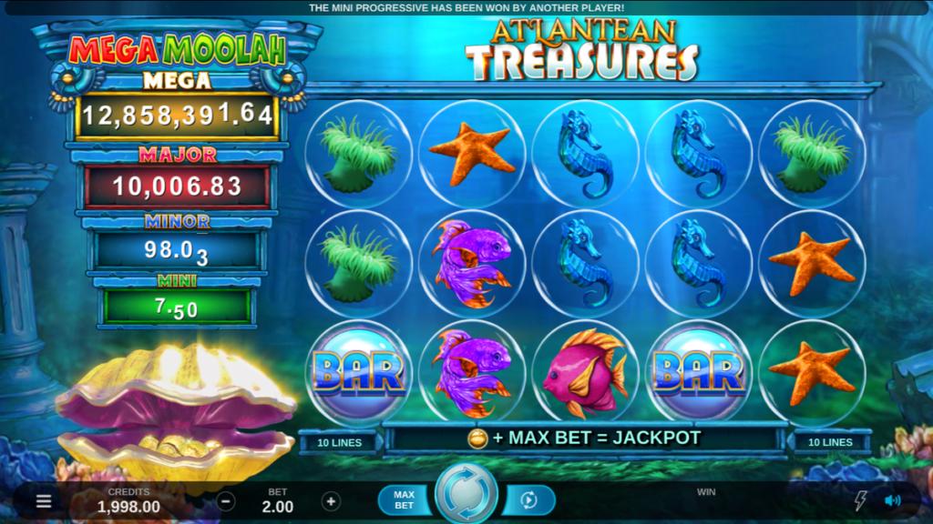 Atlantean Treasures Mega Moolah spilleautomat